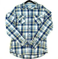 Lee Cooper Men's Size Medium Blue Yellow Check Collared Long Sleeve Casual Shirt