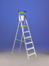 Scala domestica in alluminio vetta 6 gradini (pianetto a 1,28 m) portata 100kg