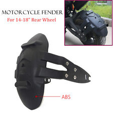 """ABS Rear Tire Fender 14-18"""" Motorcycle Wheel Splash Guard Protect Mud Cover Kit"""
