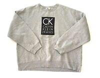 Calvin Klein Jeans CK Logo Pullover Long Sleeve Sweatshirt Mens Size XL