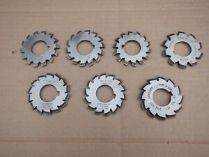 7 off 16DP GEAR CUTTERS. IN GOOD CONDITION