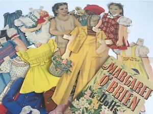 Vintage Margaret O'Brien paper doll set.