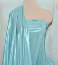 SLINKY FOIL  STRETCH FABRIC SEA BLUE ELSA INSPIRED COSTUME..58 (REDUCED)