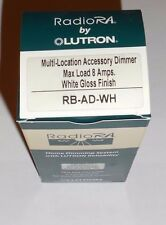Lutron Radio RA RB-AD-WH Multi- Loction Accessory Dimmer RA 600 Watt  White