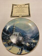 A Beacon Of Faith collector plate Thomas Kinkade Yuletide Memories #2 Christmas
