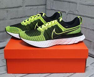 Nike React Infinity Run FK 2 Road Running Shoes, Volt/Volt-Black, Men's UK 8