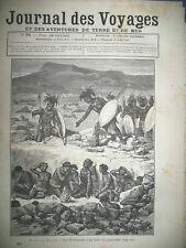 JOURNAL DES VOYAGES N° 94 AFRIQUE DU SUD BANTOUS ZOULOUS CAFRES CEREMONIE 1879