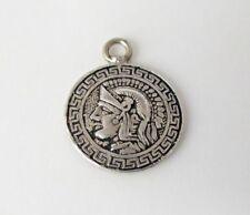 ROMAN or GREEK Soldier Warrior Vintage 800 Silver COIN? Charm