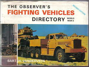 Observer's Fighting Vehicles Directory World War II by Vanderveen Pub Warne 1972