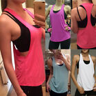 New Women's Gym Running Sports Yoga Vest Tank Top Quick Drying Workout T-shirts