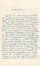 écrivain Emile Barateau lettre autographe signée à Alexis de Garaudé Espagne