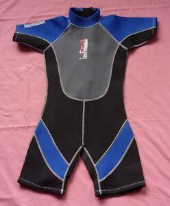 "NALU WAVEWARE Child's Shortie Wetsuit - Black, Grey, Blue - 28"" Chest"
