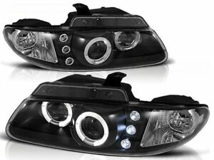 HEADLIGHTS LPCH08 CHRYSLER VOYAGER 1996 1997 1998 1999 2000 2001 ANGEL EYES