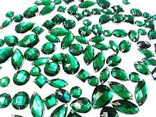 80 vert facettes acrylique à coudre, à coller sur Cristal Strass Strass Gemmes