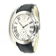 Versace Unica Bond Street Silver Sunray Dial Automatic Mens Watch OLA99D498 S009