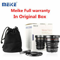 Meike 16mm T2.2 MF Cinema Lens for Micro M4/3 MFT Panasonic GH5 BMPCC 4K Camera