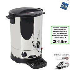 HOT WATER URN BOILER 20 LITRE CATERING CAFE RESTAURANT 20L MANUAL REFILL