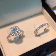 2.20 CT DIAMOND HALO ENGAGEMENT RING SET IN 14K WHITE GOLD OVER