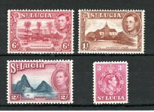 St Lucia 1938-48 values to 3s MNH