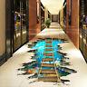 3D Bridge Floor Wall Sticker Removable Mural Decals Wall Art Living Room Decor[