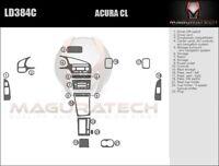 Fits Honda Accord 2DR Coupe 2003-2007 W//Manual AC Large Wood Dash Trim Kit