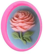 Mini Rose on Stem Silicone Mold for Fondant, Gum Paste & Chocolate