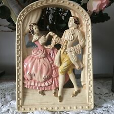 Victorian Couple Man And Woman Romantic Dancing in The Window 3D Hangings Vinta