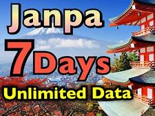 DOCOMO Japan 4G 7 Days Unlimited Data SIM