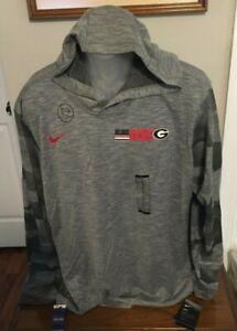 Georgia Bulldogs Nike Gray Heather Dri Fit Cotton Tee Shirt Hoodie Size XL NWT