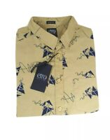 Etro Club Slim Fit Tropical Floral Print Shorts Sleeve Shirts