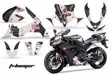 AMR Racing Graphics Decal Wrap Kit Yamaha R1 Street Bike 2004-2005 TBOMBER BLACK