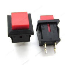 5 x Mini Red Square Push Button Switch Momentary NO OFF-ON 2 Pins 11mm DS-430