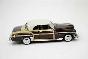 1950 Chrysler Town & Country 1:43 Scale Diecast Franklin Mint 1987 NICE Brown