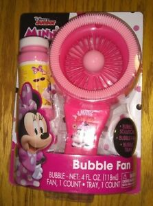 Disney Junior Minnie Mouse Bubble Fan, Bubble Solution, Dipping Tray Included