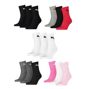 Puma Unisex Short Crew Terry Sole Adult Sports Socks (3 Pairs)