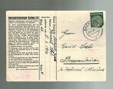 1938 Germany Dachau Concentration Camp KZ Postcard Cover Heinrich Loeb Judaica