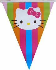 2 PACKS HELLO KITTY BANNER BUNTING GARLANDS BIRTHDAY PARTY SUPPLIES DECORATION