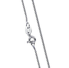 Collana catenina veneziana in argento 925 rodiato di vari modelli e lunghezza