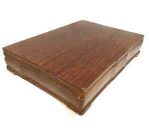 Vintage Tarnish Resistant Wood Silverware Flatware Wooden Storage Chest Box 97