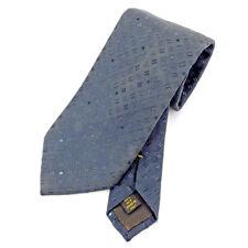 Louis Vuitton Neck Tie Monogram Navy Blue Mens Authentic Used T5461