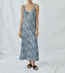 OMNES Florence Seamed Cami Slip Dress in Winter Daisy - Size UK8 , BNWT