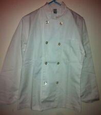 Unisex Chef Coat White Double breasted, Breast pocket, Arm pocket