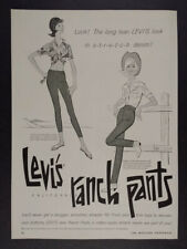 1964 Levi's California Ranch Pants western fashion art vintage print Ad