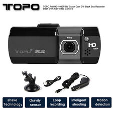 "AU TOPO FHD 1080P Vehicle camera 2.7"" LCD Crash Cam Car Recording Video Dash DVR"