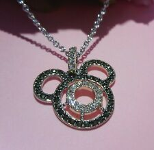 Judith Jack Mickey Mouse Sterling Silver & Marcasite Pendant Necklace NWT