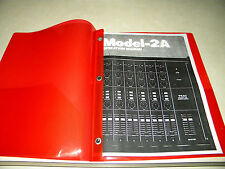 TEAC MODEL-2A  AUDIO MIXER  OPERATION MANUAL 20 PAGES FREE SAME DAY  SHIPPING