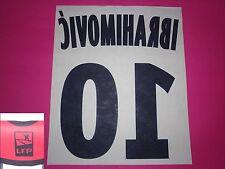 Flocage officiel PSG Paris IBRAHIMOVIC n°10 2011 2014 extérieur