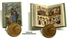 1204# Engl. Miniatur Kinderbuch - Object book - Puppenhaus/Puppenstube - M 1zu12