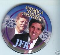 pin John  KENNEDY + John KERRY 2004 pinback