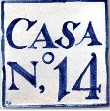 Azulejo personalizado de numero de casa, estilo antiguo, number house tile